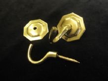 Pair of octagonal tassel hooks - curtain tie back hook